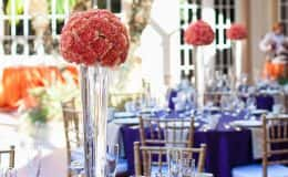 Coral Flower Centerpieces