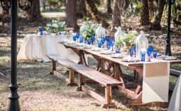 Farm table reception