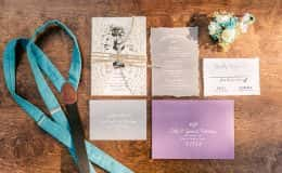 Wedding Invitation and Suspenders