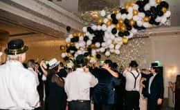 New Year's Eve Wedding Balloon Drop