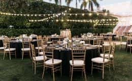 Guest tables for dinner reception