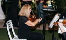 Violinist plays during ceremony